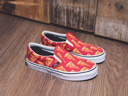 Children's Shoes sneakers Vans Classic Slip-On Pizza 4J2IFE