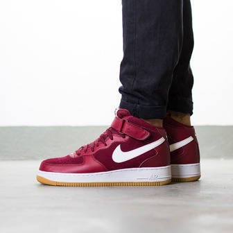 "Men's Shoes sneakers Nike Air Force 1 Mid '07 ""Team Red"" 315123 608"