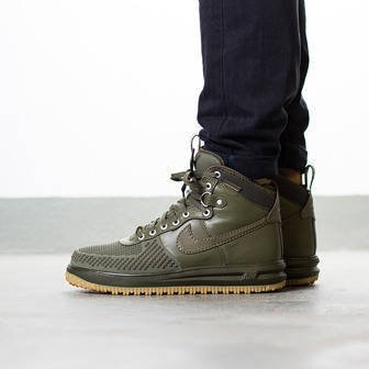 "Men's Shoes sneakers Nike Lunar Force 1 Duckboot ""Medium Olive"" 805899 201"