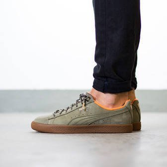 "Men's Shoes sneakers Puma Clyde Winter ""Burnt Olive"" 363427 01"