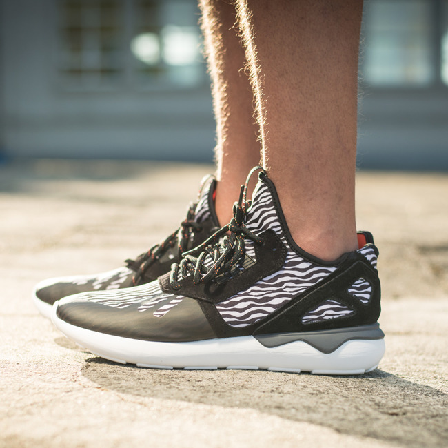 The adidas Tubular Radial Core Black / Vintage White Is Available