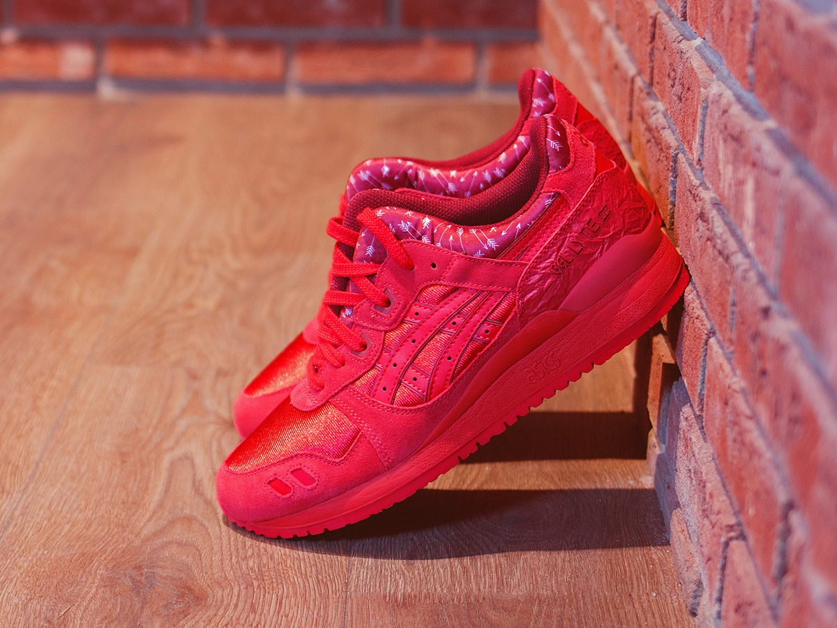 Mens Shoes Sneakers Asics Gel Lyte III Valentines Day