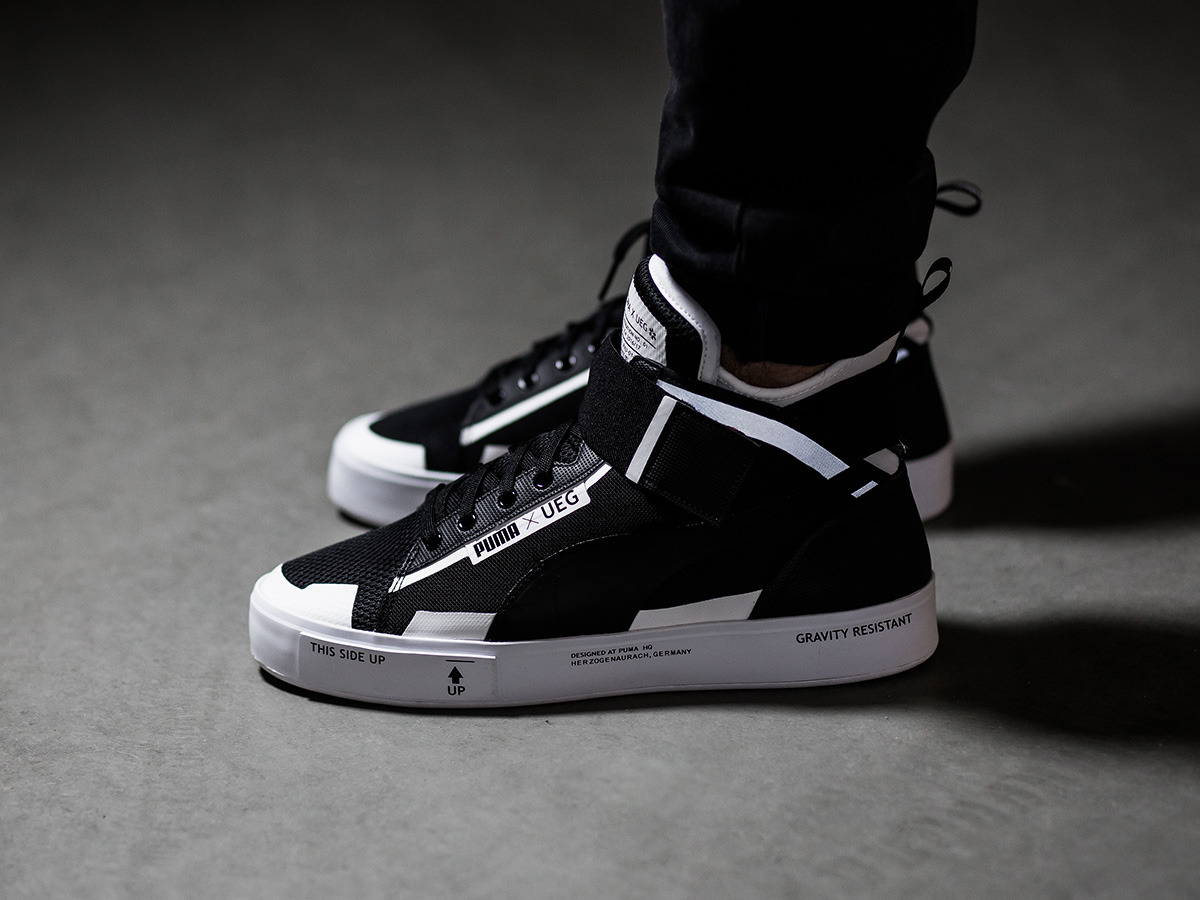 new arrivals c143b 37212 puma court play x ueg high white black