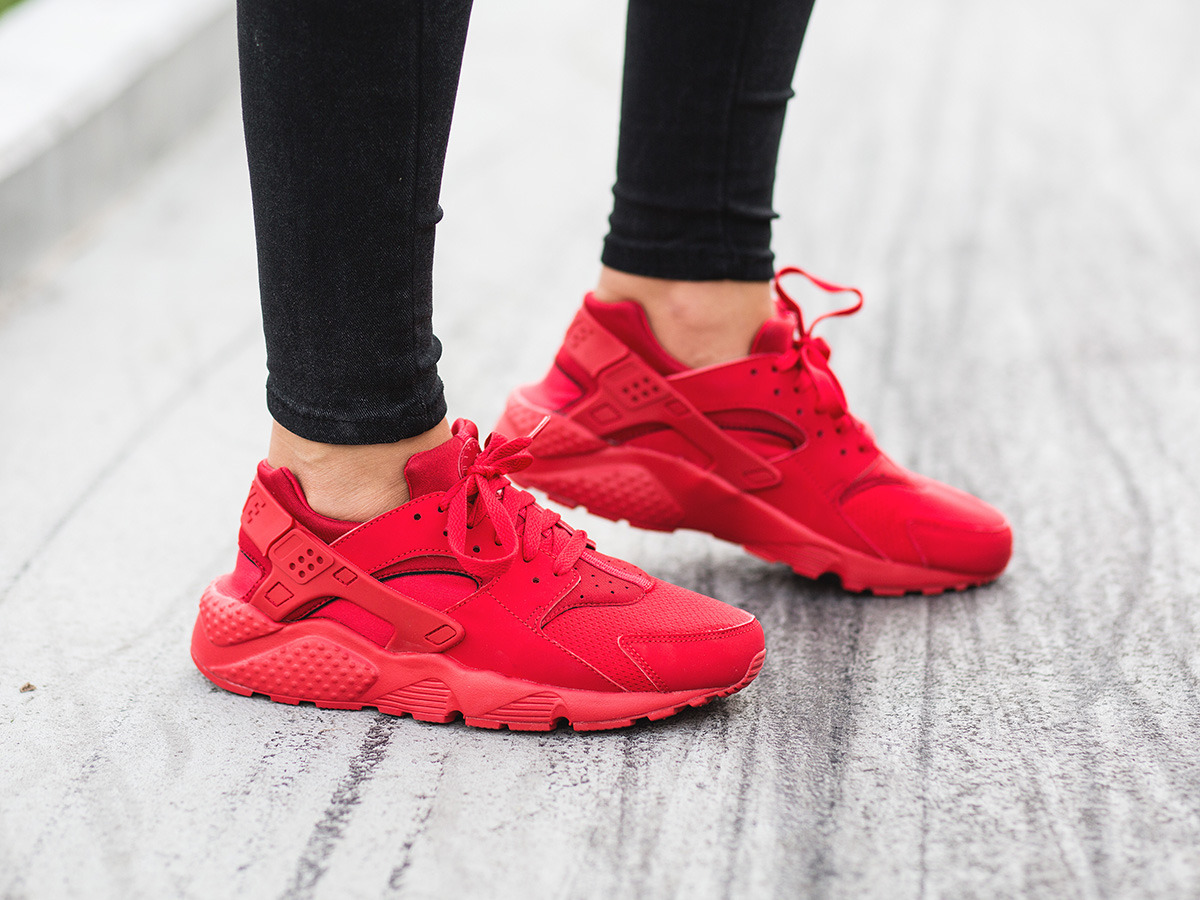 zapatillas nike huarache red