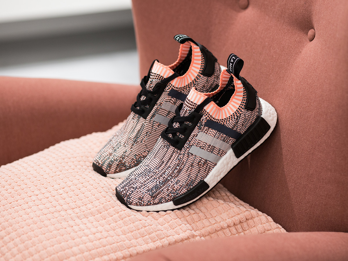 women 39 s shoes sneakers adidas originals nmd r1 primeknit. Black Bedroom Furniture Sets. Home Design Ideas