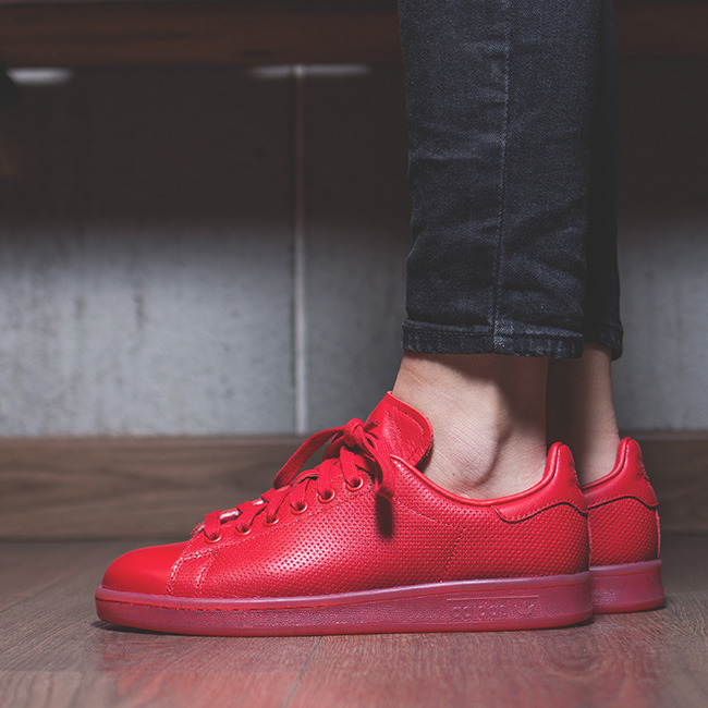 Adidas Stan Smith Trainers Red