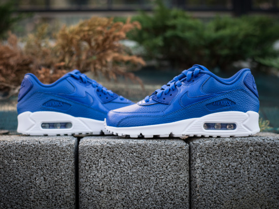 nike air max 90 leather blue