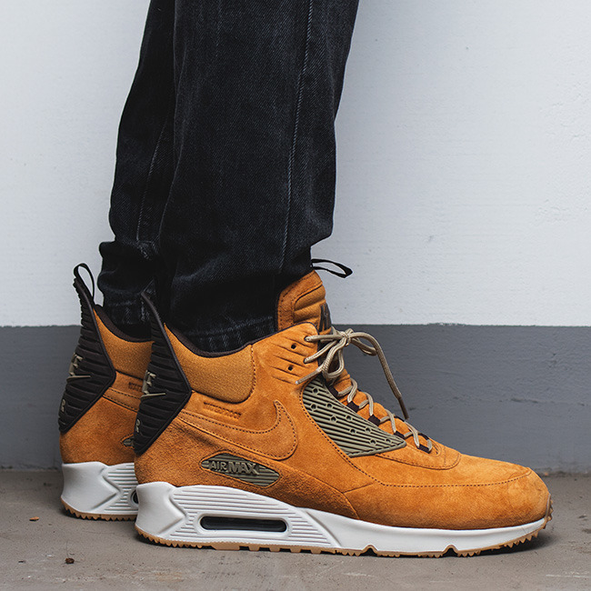 nike air max 90 sneakerboot wheat pack